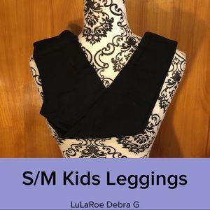 LuLaRoe Kids S/M Solid Black Leggings